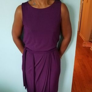 Rachel Roy Plum Jersey size 6 sleeveless dress
